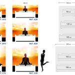 Tête de lit méditation - Plan