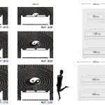 Tête de lit ying et yang japon - Plan