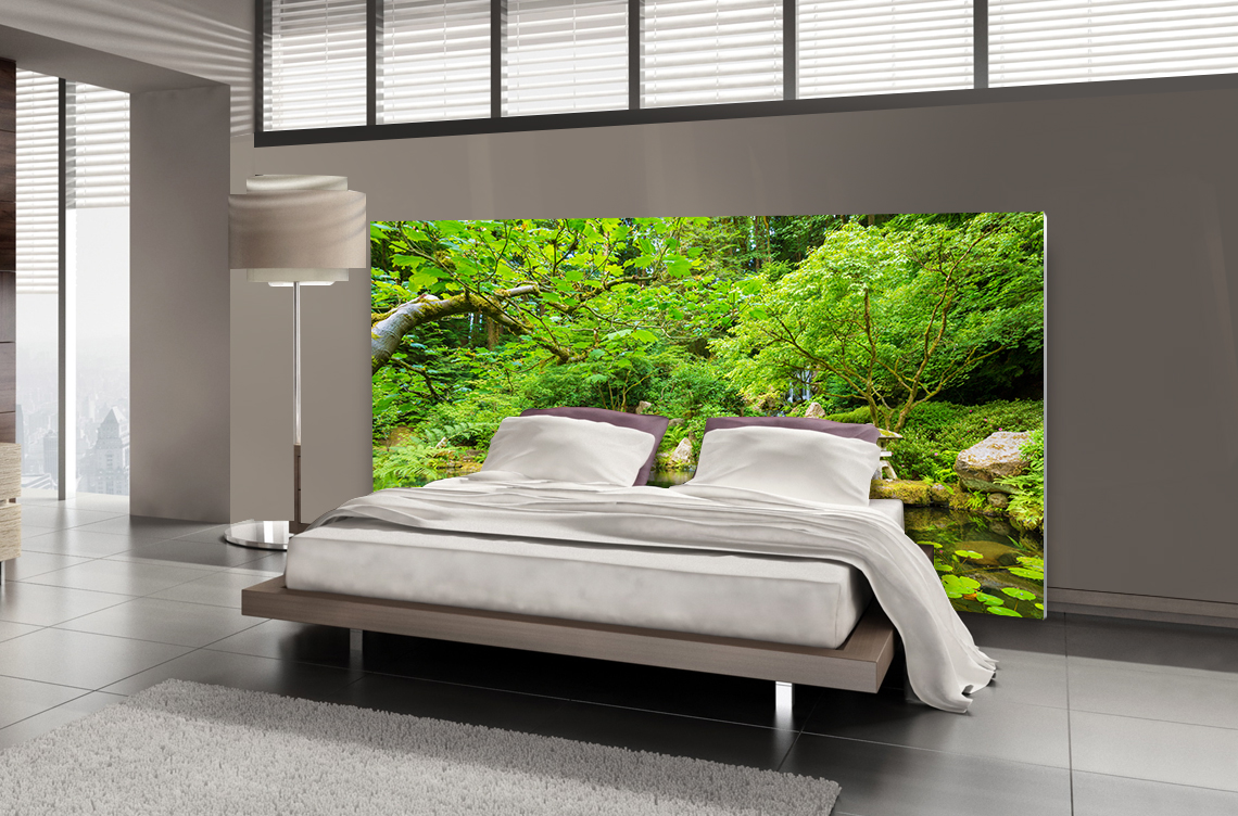 t te de lit jardin zen textilvision. Black Bedroom Furniture Sets. Home Design Ideas