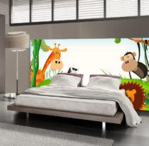 Tête de lit jungle enfant - Lit de 140