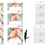 Tête de lit cerisier en fleur - Plan