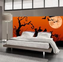 Tête de lit halloween - Lit de 140