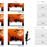 Tête de lit halloween - Plan