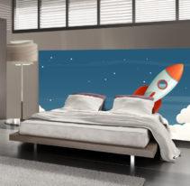 Tête de lit fusée - Lit de 140