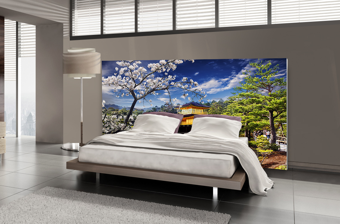 t te de lit jardin japonais textilvision. Black Bedroom Furniture Sets. Home Design Ideas