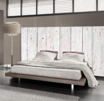 Tête de lit bois blanc - Lit de 140