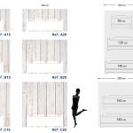 Tête de lit bois blanc - Plan