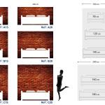 Tête de lit brique - Plan