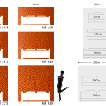 Tête de lit cuir - Plan