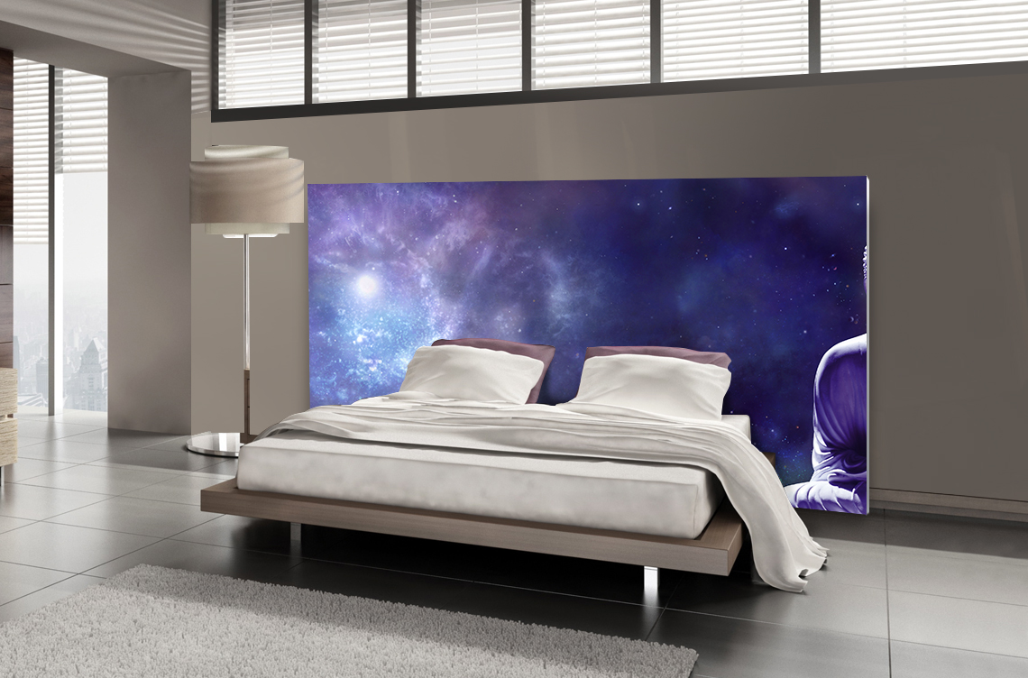 t te de lit m ditation spatiale textilvision. Black Bedroom Furniture Sets. Home Design Ideas