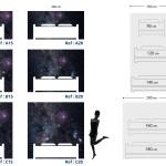 Tête de lit ciel étoilé - Plan