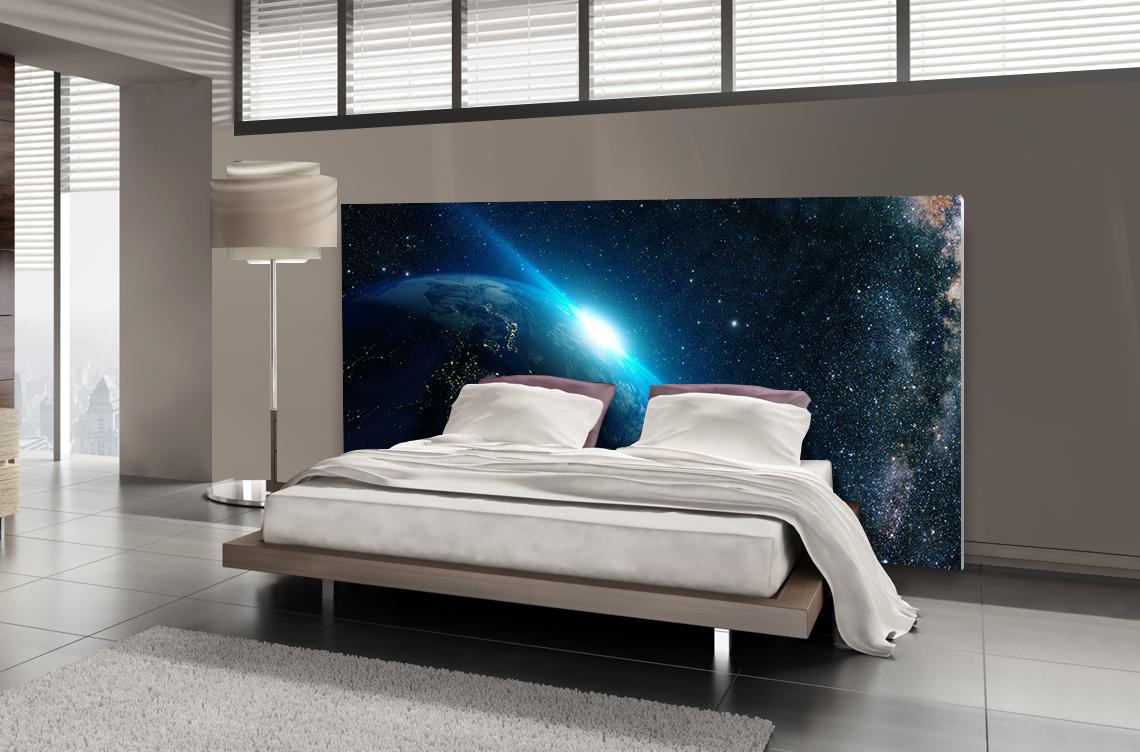t te de lit horizon terrestre planovision. Black Bedroom Furniture Sets. Home Design Ideas
