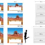 Tête de lit Monument Valley - Plan