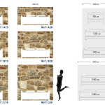 Tête de lit pierre de parement - Plan