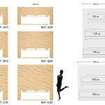 Tête de lit sable - Plan