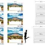 Tête de lit Teotihuacan - Plan