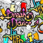 Tête de lit tag Break Dance - Design