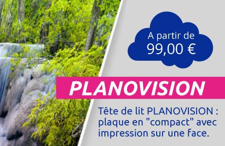 Tête de lit PLANOVISION - Plaque compact imprimée