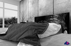 Lit de 160 avec une tête de lit large