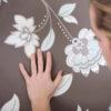 motif floral chambre